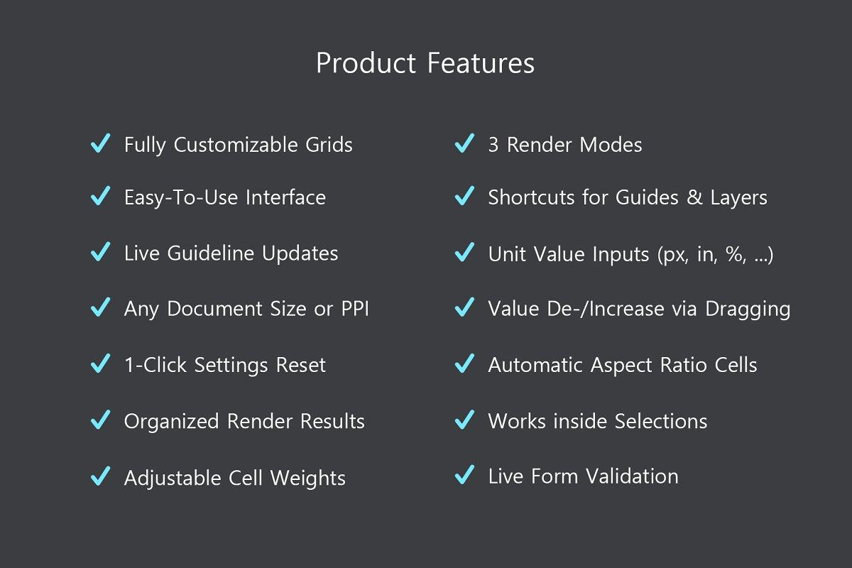 软件插件-PS扩展面板 网格布局创建插件Better Grids – Layout Creation Kit(13)