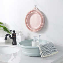 Portable Travel Foldable Wash Basin Plastic Thickened Household Washbasin Large Footbath Footpot