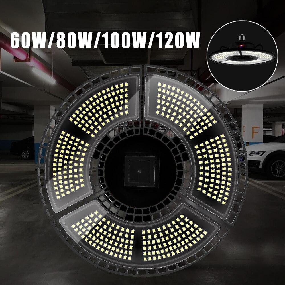 Super Bright E27 120W UFO LED Light Garage Lamp AC 85-265V Waterproof Smart Sensor Warehouse Factory Bulb Industrial Lighting