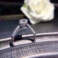 Женское кольцо с микро-инкрустацией 1.0CT, 6,5 мм, из серебра 925 пробы