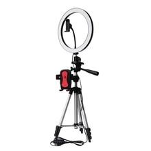 FFYY Trépied Clip Support De Téléphone Avec Anneau Led Lumière Caméra Photographie Annulaire Lampe Studio Ringlight Pour Youtube Maquillage Téléphone Auto
