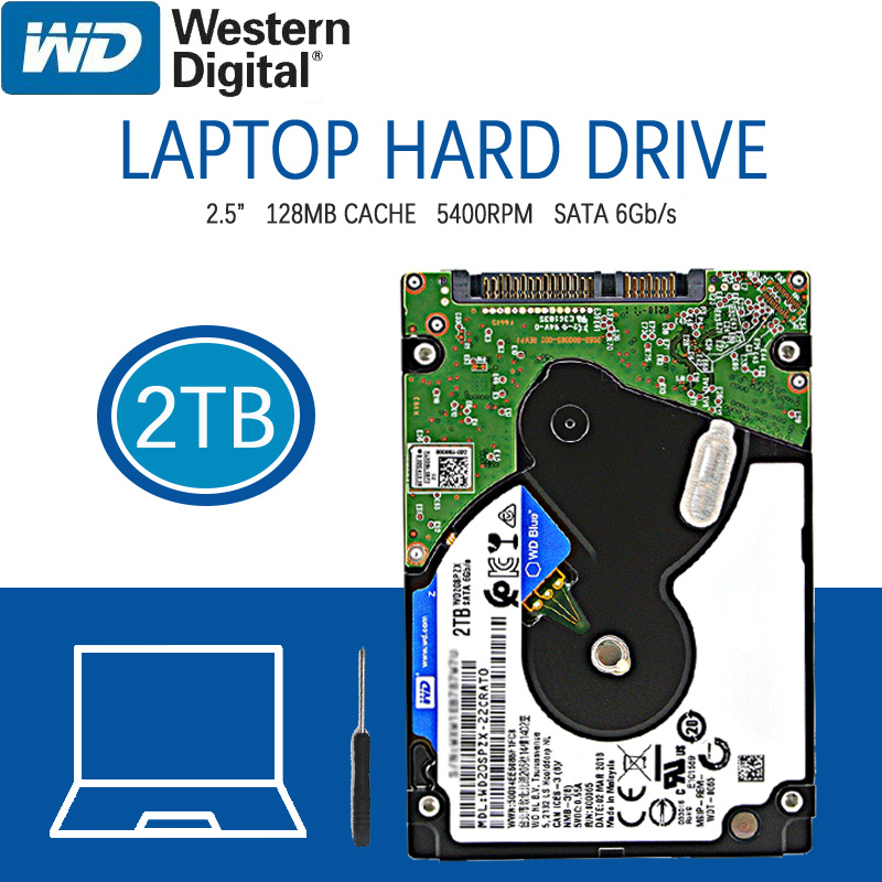 """WD 2TB Laptop Hard Drive Blue Disk Computer Internal HDD HD Harddisk SATA III 128MB Cache 5400 RPM 2.5"""" for Notebook PS4 1"""