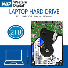 WD-disque dur interne HDD de 2 to, pour ordinateur portable, SATA III, Cache de 128 mo, 5400 RPM, 2.5 pouces, pour Notebook, PS4