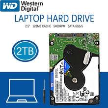 Wd 2tb disco rígido portátil disco rígido azul interno do computador hdd hd disco rígido sata iii 128mb cache 5400 rpm 2.5