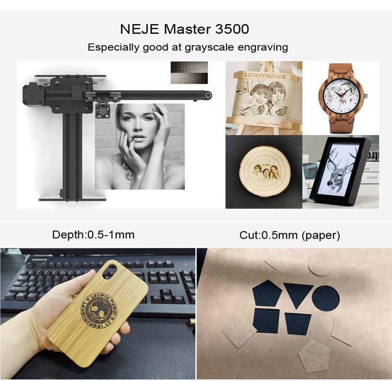 NEJE Laser-Engraving-Machine Diy Engraver Desktop Wood-router/cutter/printer 3500MW Mini