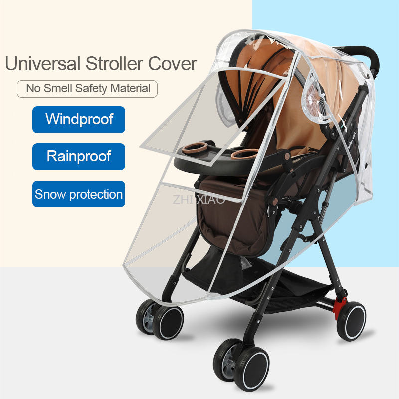 Universal Baby Stroller Accessories Rain Cover And Waterproof Stroller Cover Snow Protection Winter Accessories For Stroller