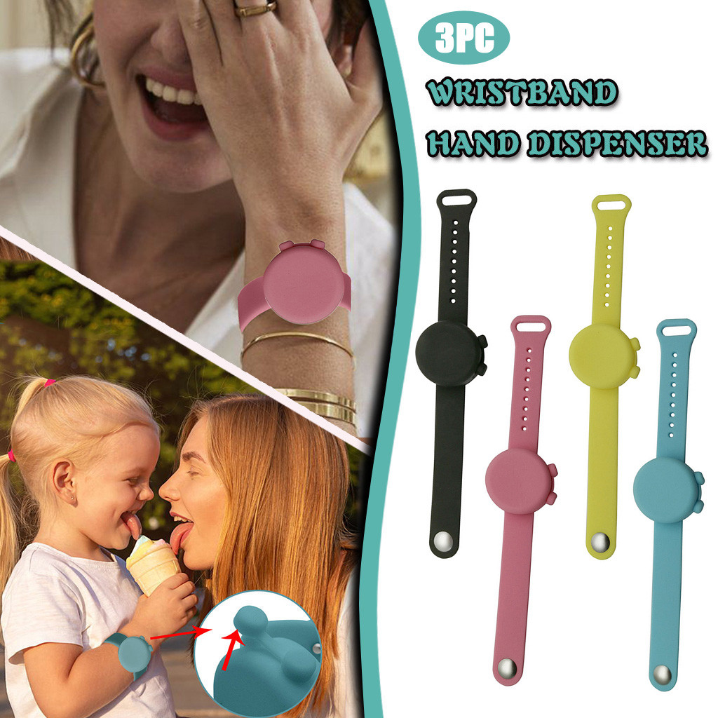 Wristband Hand Dispenser Hand Sanitizer Dispensing Silica gel Wearable Dispenser Pumps Disinfecta Wristbands Hand Band Wrist