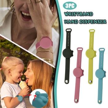 Wristband Hand Dispenser Hand Sanitizer Dispensing Silica gel Wearable Dispenser Pumps Disinfecta Wr