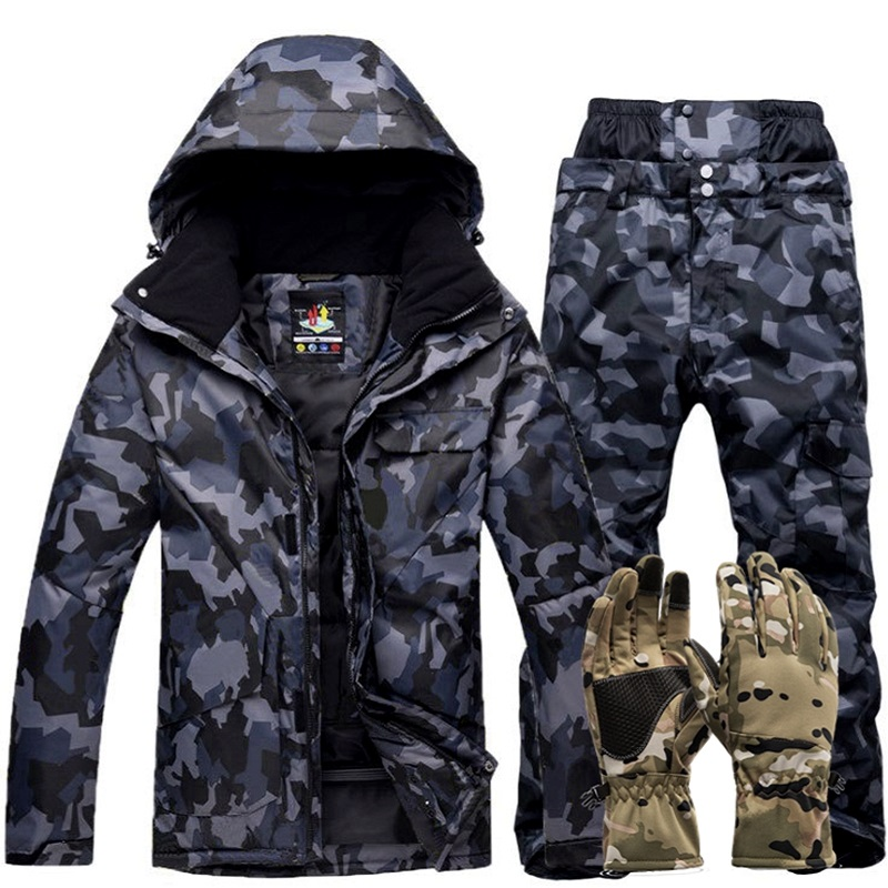 Winter Warm Ski Suit Men Outdoor Windproof Waterproof Thermal Snow Sets Skiing Snowboarding Ski Jackets And Pants