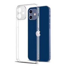 Caso de proteção da lente da câmera para o iphone 12 pro max xr x xs max caso de silicone claro para o iphone 11 12 pro max 7 8 6 plus capa traseira
