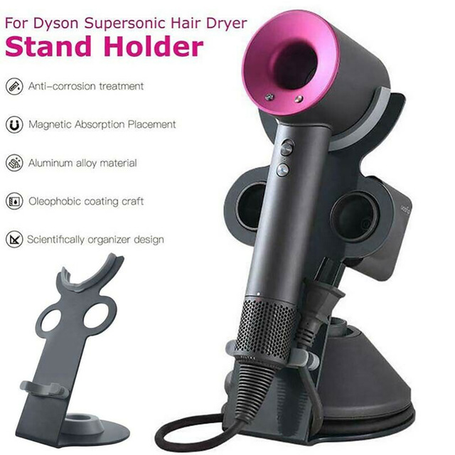 Magnetic Holder For Dyson Hair Dryer Pouch-Free Anti-Drop Magnetic Holder Stand Bracket Mount For Dyson Supersonic Hair Dryer
