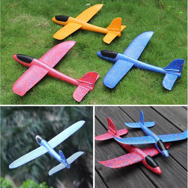 50CM Big Foam Plane Glider Hand Throw Airplane Light Inertial EPP Bubble Planes Outdoor Launch Kids Toys for Children Boys Gift 2