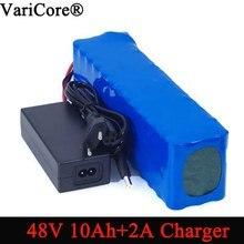 VariCore Batería de bicicleta eléctrica, 48v, 10ah, 18650, li ion, kit de conversión de bicicleta bafang, 1000w + cargador de 54,6 v