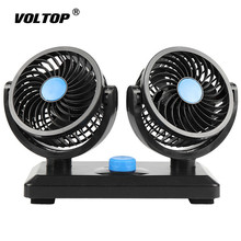 Powerful Cooling Fan Decoration 12V 24V Car Accessories for Truck Ornament Air Conditioning Cool Down