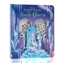 Peep Inside A Fairy Tale The Snow Queen English Educational 3D Flap Picture Books Children Baby Reading Montessori Book(China)