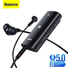Baseus Bongiovi DPS Bluetooth 5,0 Empfänger 3,5mm Jack Bluetooth Audio Aux Aptx LL HD Wireless Adapter Sender Für Kopfhörer