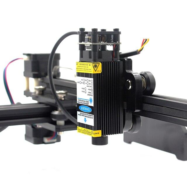 12V 5,5 W 10W Blau Laser Module für Gravur Fokussierbar 3P DIY Laser Kopf für CNC 3018 maschine mit PWM TTL Schneiden Sperrholz