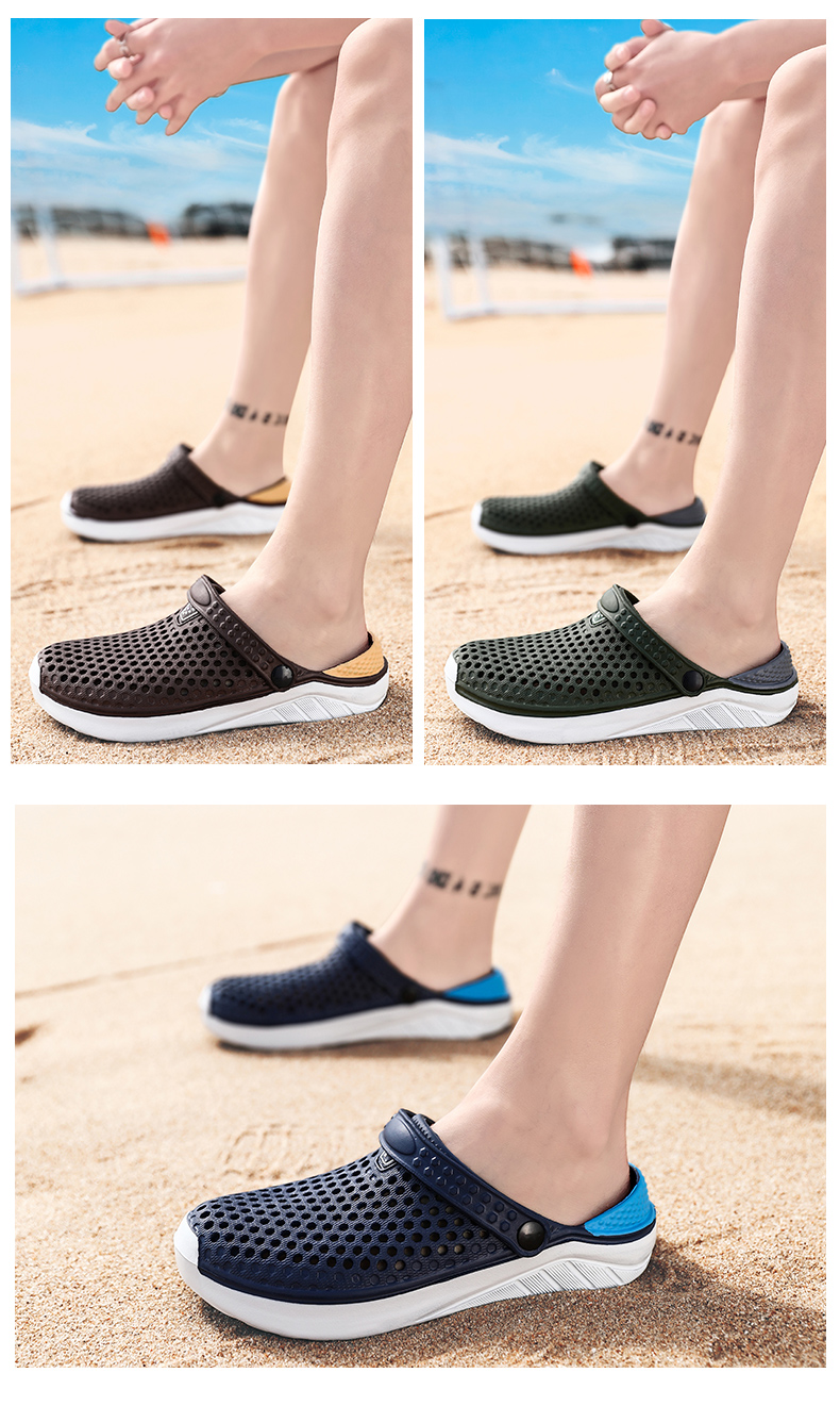 H822c229176ea4fe692e1b739aadb9599V - Summer Beach Sandals Lightweight Lovers Garden Shoes Non-slip Water Shoes Men White Slippers Clogs For Women Size 36-45
