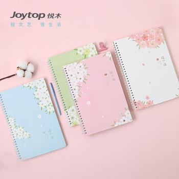 A5 Leuke nieuwe kawaii school student cherry bloom coil spiraal hardcover samenstelling notebook met regel vellen papier briefpapier