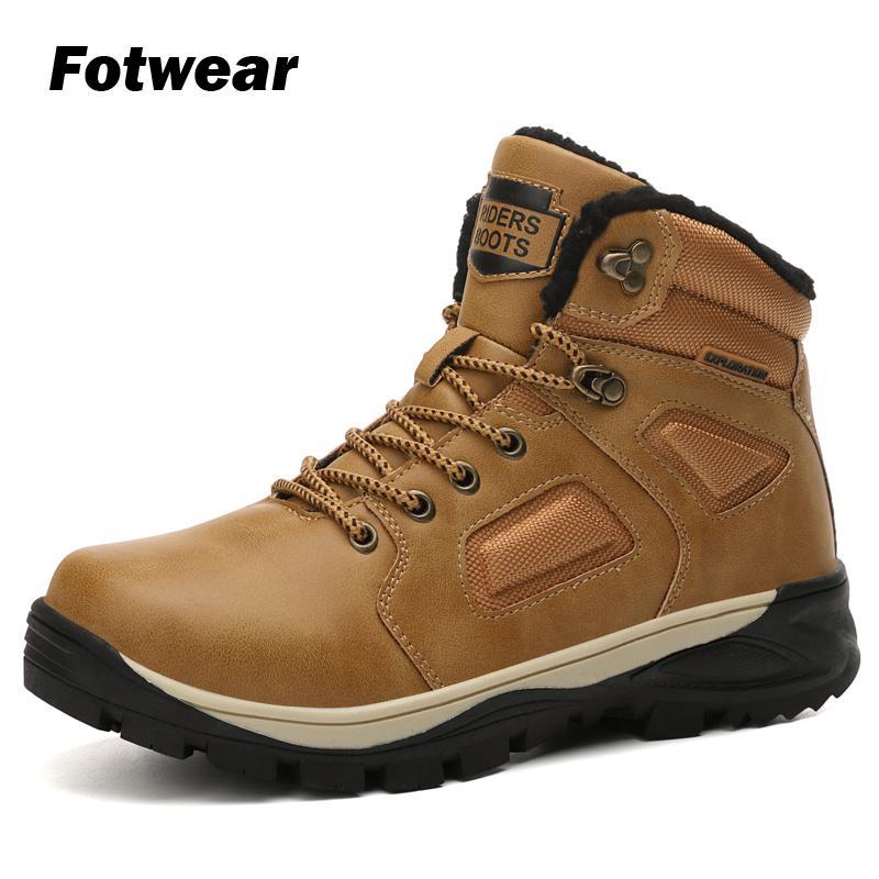 Fotwwear Mens Boots Winter British Trend Men outdoor winter Retro Tide Tooling Shoes Fashion Male