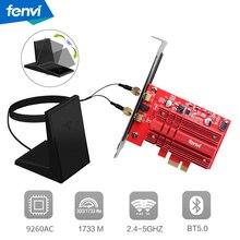 Desktop PCI E 2030Mbps 802.11ac Bluetooth 5.0 PCI Express Adattatore Senza Fili di WiFi 9260NGW Wi Fi 2.4G/5Ghz MU MIMO Finestre 10