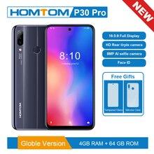 Version originale HOMTOM P30 pro 6.41 pouces Android 9.0 téléphone portable MT6763 Octa Core 4GB 64GB arrière 13MP Triple caméras Smartphone