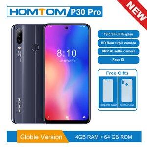 Image 1 - Version originale HOMTOM P30 pro 6.41 pouces Android 9.0 téléphone portable MT6763 Octa Core 4GB 64GB arrière 13MP Triple caméras Smartphone
