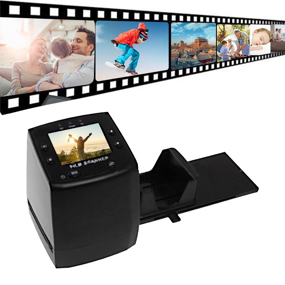 """Мини-сканер отрицательной пленки 35 мм 135 мм конвертер слайдов фото цифрового просмотра изображений с 2,3"""" lcd встроенное программное обеспечение для монтажа"""