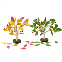 Toys Children Gift DIY Montessori And Wood for Assembling-Leaves Training Early-Thinking