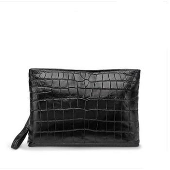 Gete hombres bolsa de nuevo sobre bolsa de cuero de los hombres entender bolsa ocio de los hombres de piel de cocodrilo bolso de mano del vientre bolso de mano para hombre