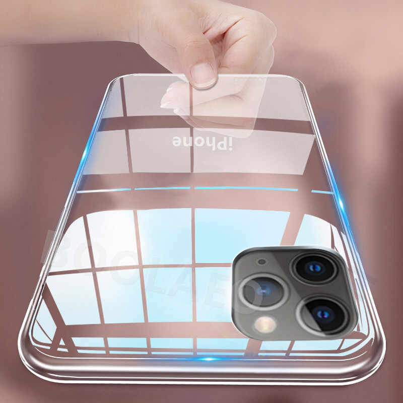 Clear Soft TPU Siliconen Case op Voor iPhone 11 Pro Max 7 8 6 6s Plus X XS MAX XR Transparante Telefoon Case 5s SE Slim Cover Coque