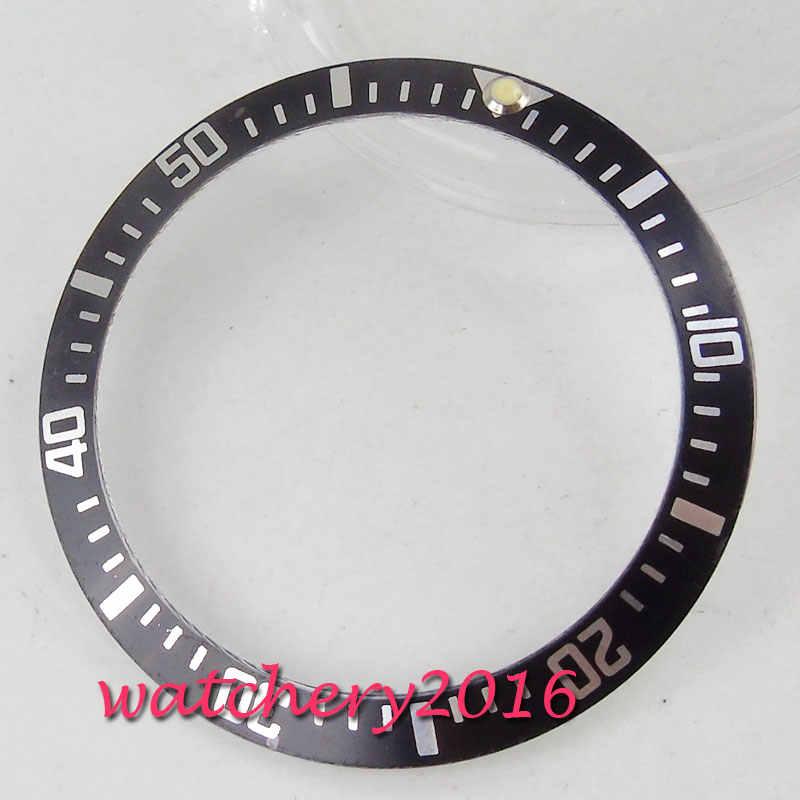 Reloj de 38mm bisel de aluminio Ajuste automático 40mm reloj de hombre bisel Fit relojes para hombre