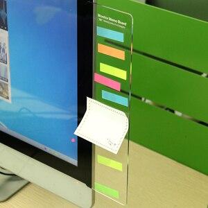 1PC Message Memo Board PC Screen Computer Monitors Side Panel Planner Writing Record Message Board Remind Memo Pad