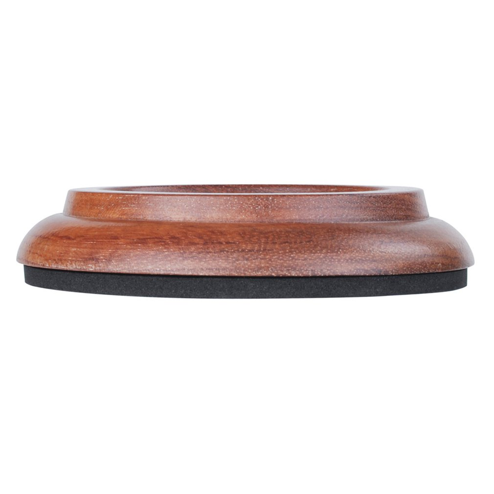 3 PCS Rosewood Piano Caster Cups Universal Round Cup Wood Grain Grand Piano Mats Piano Foot Pads Anti-Skid Pads