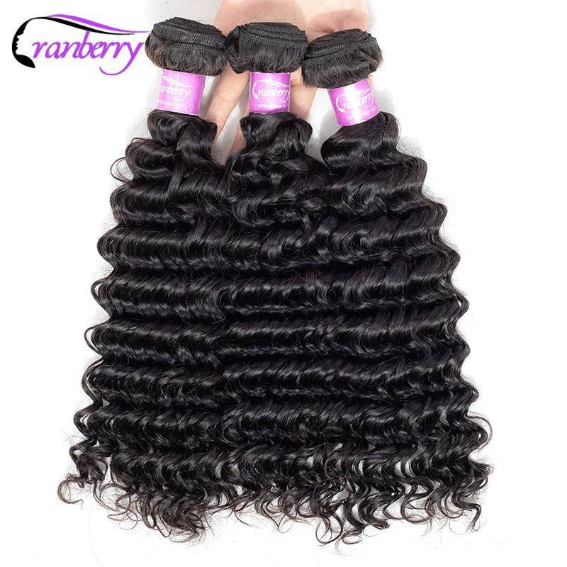 CRANBERRY Hair Peruvian Deep Wave Bundles Deal Can Buy 1/3/4 Bundles 100% Non Remy Human Hair Extensions Free Shipping