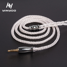 16 Core High Purity Silver Plated Cable 2 5 3 5 4 4MM With MMCX 2PIN QDC TFZ FOR CA12 TFZ BL-03 BL-05 TRN VX M10 cheap honesum Other Wired In-Ear None Monitor Headphone Line Type 3 5mm Kinboofi Silver Plated Cable For Shure