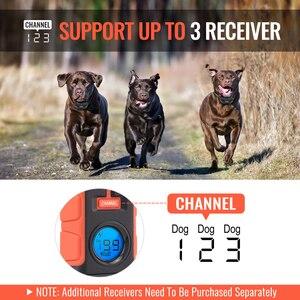 Image 5 - Ipets 616 mais novo 800 m recarregável e à prova drechargeable água vibração elétrica colar de choque para 3 cães