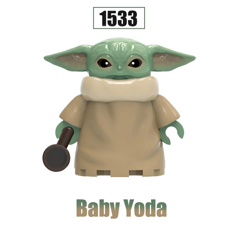Baby Yoda  Star The Mandalorian Ray Empire Robot Knights Of Ren WM6085 Building Blocks Figures Toys For Children XH 1533
