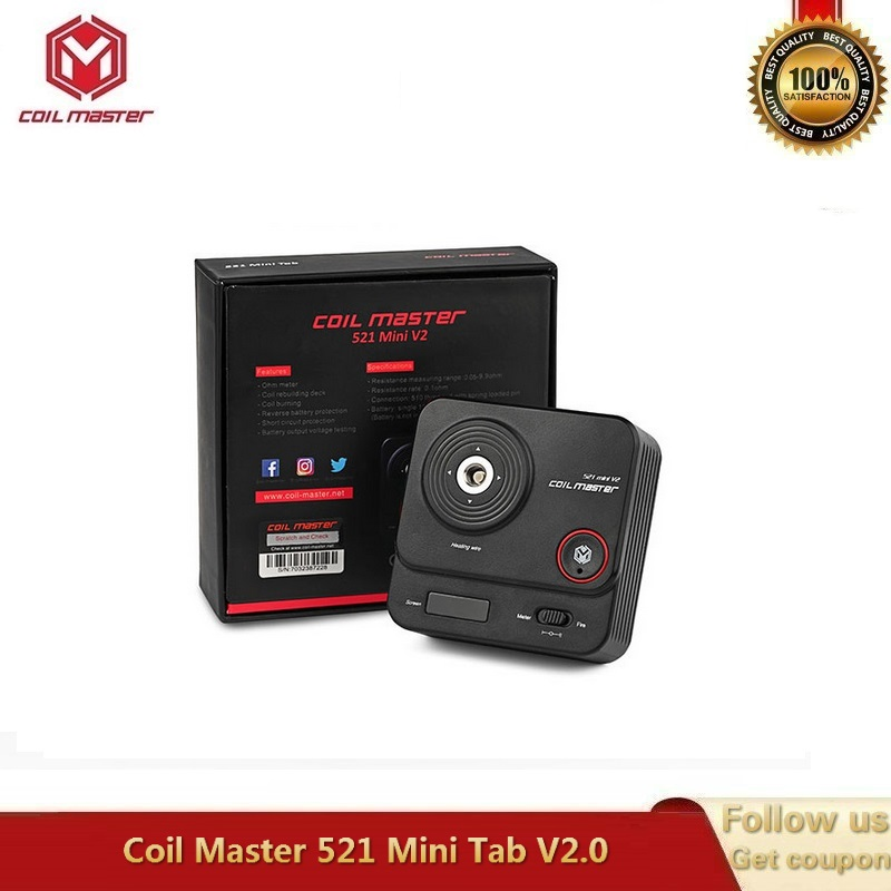 Original Coil Master 521 Mini Tab For Ohm Meter Coil Rebuilding Tank Core Burning VS CoilMaster 521 Tab Plus Powered By 18650