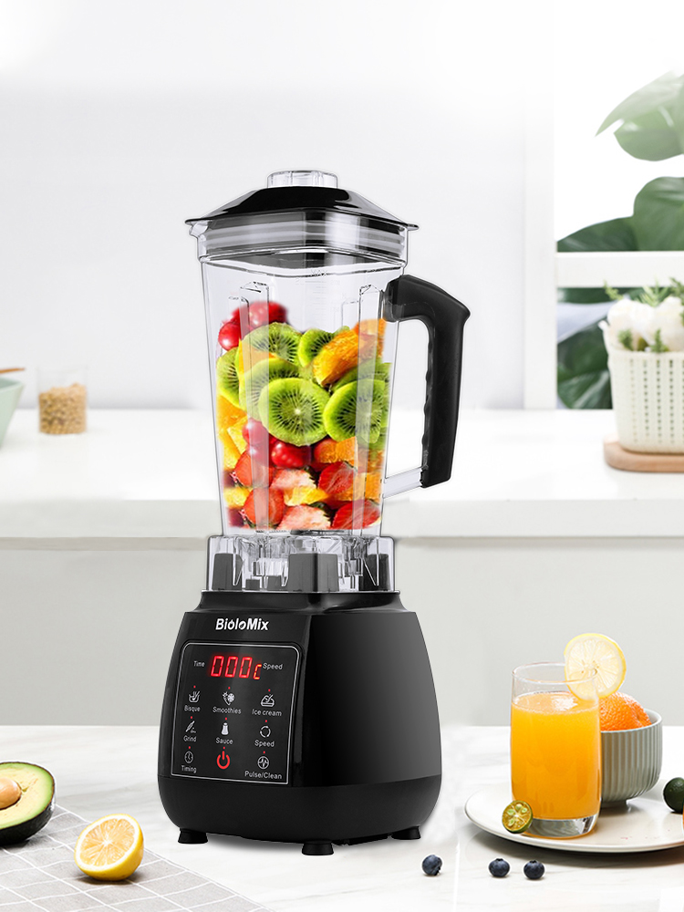 Juicer Mixer Food-Processor Professional Blender Ice-Smoothies-Fruit Digital Bpa-Free