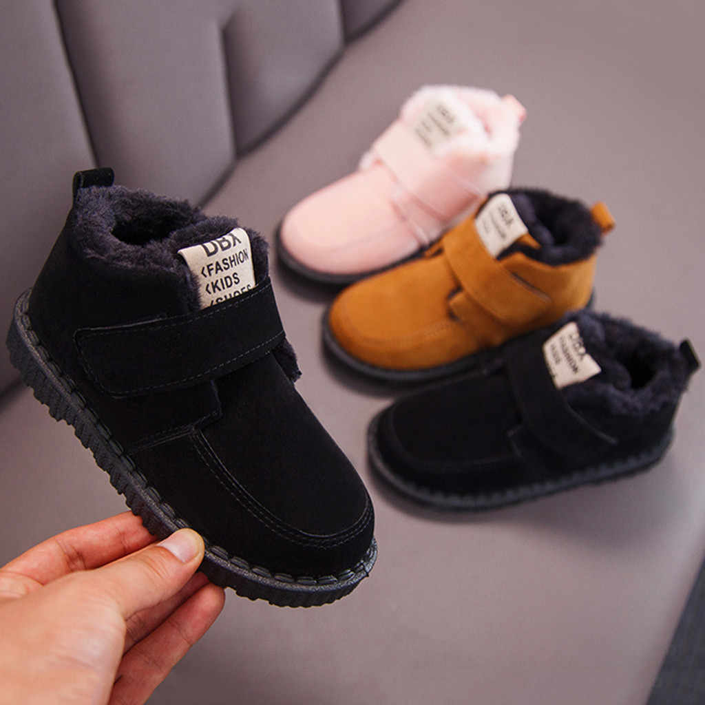 Kids Boots Shoes Children Kid Baby Girls Boys Plush Boots Ankle Sport Short Bootie Kids Winter Casual Warm Shoes Bota Nina