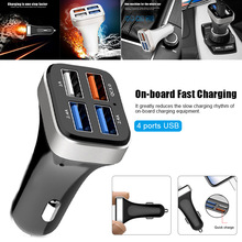 Car Charger Fast Charging 4 USB Ports for Smart Phone Vehicle Accessories
