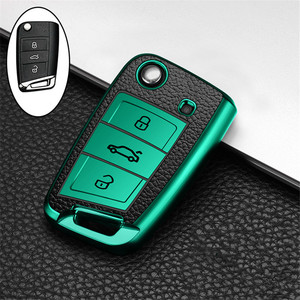 Image 4 - Car Key Case Cover For Volkswagen VW Polo Golf 7 MK7 Tiguan passat For Skoda Octavia Kodiaq Karoq For Seat Ateca Leon Key Bag