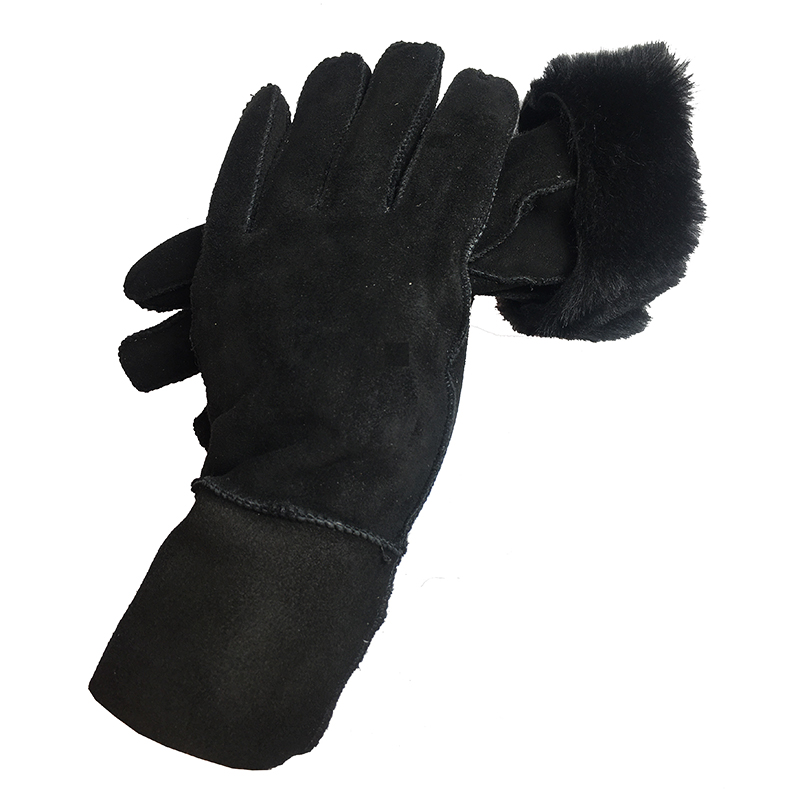 Women Gloves New 2019 Genuine Leather Gloves Parent Winter Wool Fur Gloves Mittens Natural Sheepskin Gloves Girl Birthday Gift