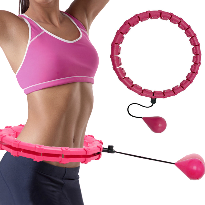 Adjustable Sport Hoops Abdominal Thin Waist Exercise Detachable Massage Hoops Weight Loss Gym Home Training Fitness Equipment