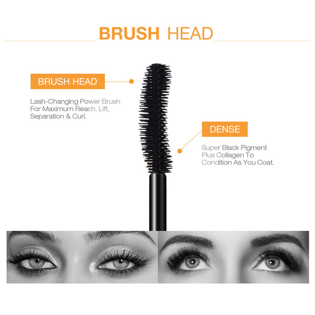 O.TWO.O 3D Mascara Lengthening Black Lash Eyelash Extension Eye Lashes Brush Beauty Makeup Long-wearing Gold Color Mascara 2