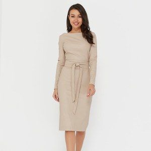 Sexy Pu Leather Bodycon Dress Women Sashes Long Sleeve Knee Length Party Club Dress 2020 Autumn Winter Slim Dress Vintage