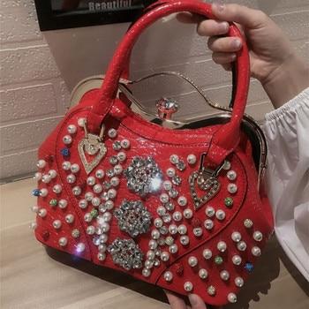 rhinestone-bag-women-handbag-korean-luxury-fashion-female-leather-bag-diamonds-shoulder-messenger-shell-bag-ladies-evening-bag