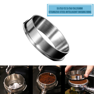 51/53/57.5/58/58.35mm Stainless Steel Intelligent Dosing Ring Brewing Bowl Coffee Powder For Espresso Barista Funnel Portafilter