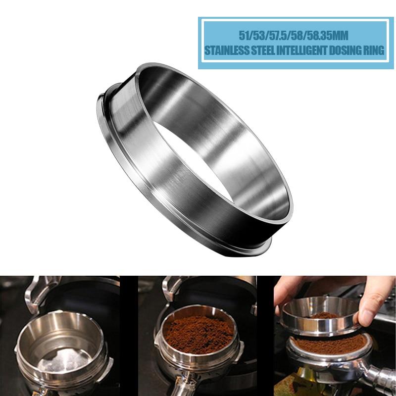 حلقة الجرعات الذكية من الفولاذ المقاوم للصدأ 51/53/57.5/58/58.35 مم, وعاء تخمير مسحوق القهوة للإسبريسو باريستا قمع فلترقهوة للباعة|Coffee Tampers| - AliExpress
